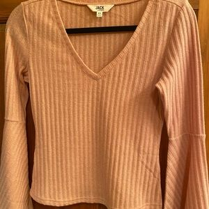 Jack by Bb Dakota Pink Bell Sleeve Blouse ❤️ NWOT